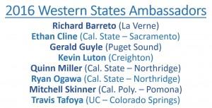 2016 WSLS Ambassadors